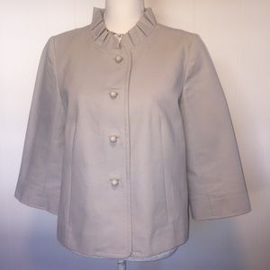 J.Crew gray lined jacket size 10.